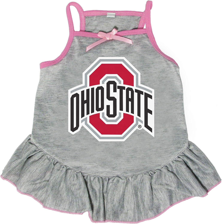 Littlearth NCAA Philadelphia Mall Ohio State Pet Small Max 69% OFF Dress Buckeyes