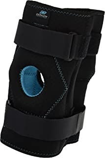 DonJoy Advantage DA161KB02-BLK-S, M Stabilizing Double Hinged Knee Wrap Brace for Sprains, Strains, Media Lateral Instability, Arthritis, Patella Buttress