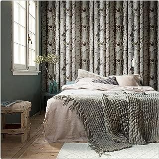 HaokHome 151033 Vintatge Birch Tree Wallpaper Rolls Black/Green/Grey Forest Wood Designer Home Interior Decoration 20.8
