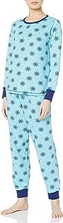 Amazon Brand - Mae Women's Sleepwear Vintage Thermal Loose Fit Pajama Set