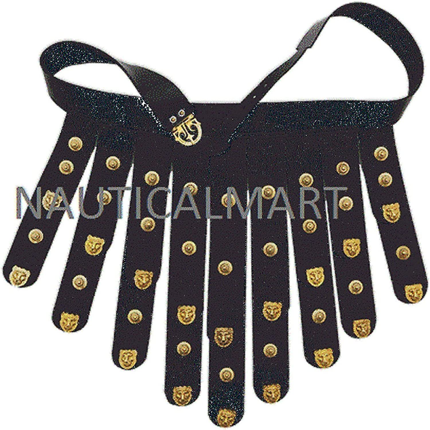 Rare Black Royal Leather Topics on TV Belt With Accents Brass