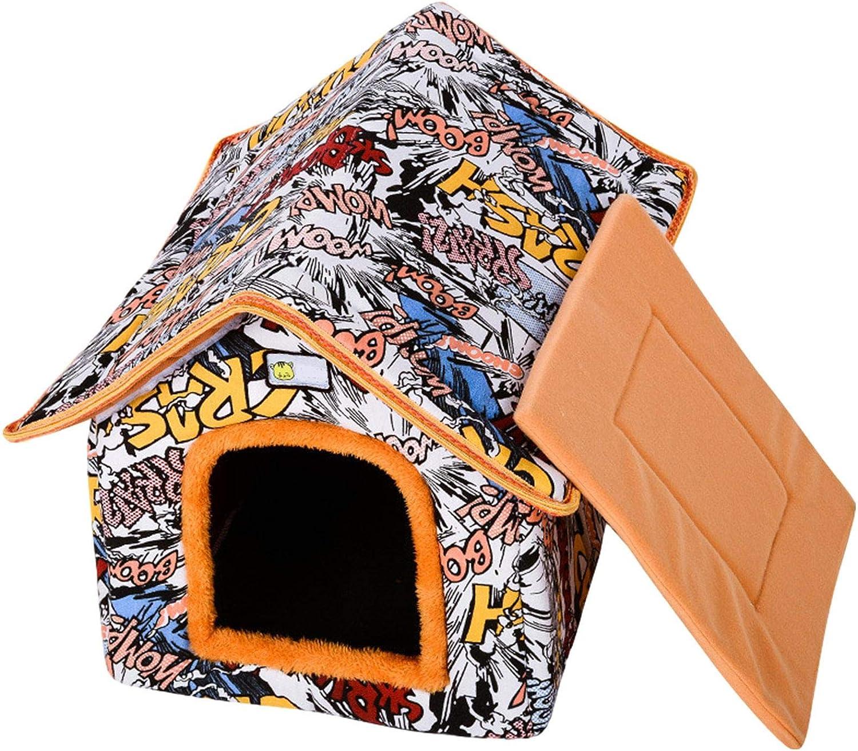 Casa para mascotas al aire libre,casa de invierno para gatos para exteriores,casa plegable impermeable para gatos refugio c/álido para gatos callejeros caba/ña para nidos de gatos engrosada