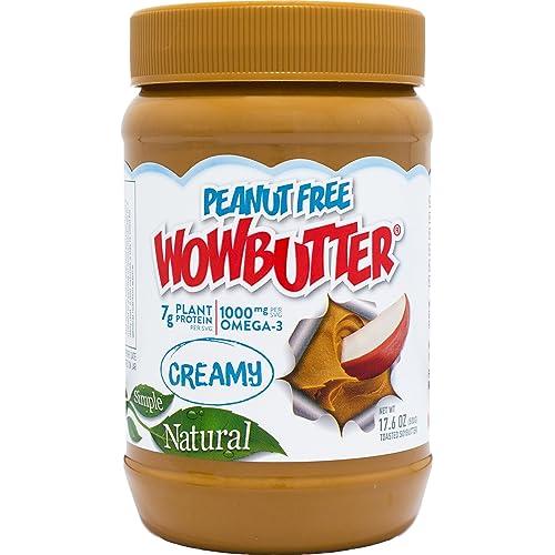 Wowbutter Natural Peanut Free Creamy 1.1lb Jar