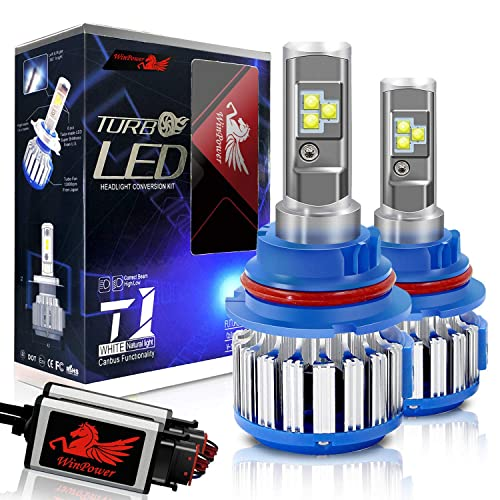 Win Power 9007 LED Headlight Bulb Dual High Low Beam Conversion Kit CREE 70W 7200LM 6000K