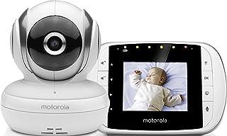 Motorola Baby MBP 33S - Vigilabebés vídeo con pantalla LCD a color de 2.8 modo eco y visión nocturna color blanco