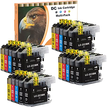 D C 20 Set Druckerpatronen Tintenpatrone Komp Für Brother Lc 221 Lc 223 Dcp J4120 Dwg J562 Dw Mfc J4420 Dw J4620 Dw J4625 Dw J480 Dw J5320 Dw J5620 Dw J5625 J5720 Dw J680 Dw J880 Dw Mit Chip Bürobedarf Schreibwaren