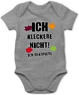 Shirtracer - Sprüche Baby - Ich kleckere Nicht! - Baby Body Kurzarm für Jungen und Mädchen