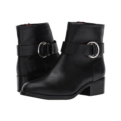 Frye Kristen Harness Short (Black Smooth Antique Pull Up) Women