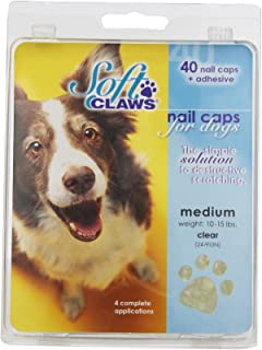 Soft Claws Canine Nail Caps - 40 Nail Caps Adhesive Dogs