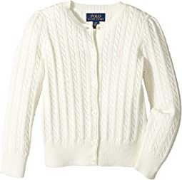 Polo Ralph Lauren Kids Cable Knit Cotton Cardigan (Toddler)