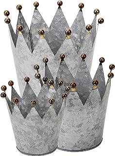 Parts4Living Metallkrone Dekokrone aus Metall Bepflanzen /& Dekorieren 29 x 21 cm