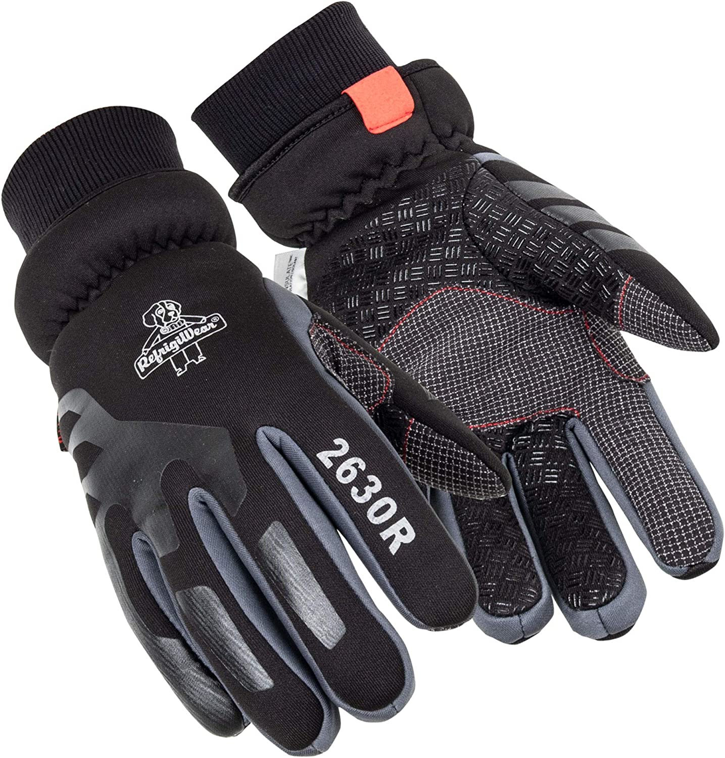 RefrigiWear Womens Thinsulate Insulated Softshell Gloves with Silicone Grip