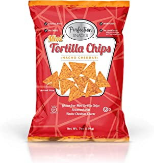 Perfection Snacks Gluten Free Mini Tortilla Chips (Nacho Cheddar, 7oz / 3ct)