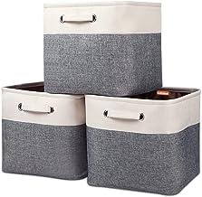 "Kntiwiwo Large Storage Cubes 13"" x 13"" x 13"" Foldable Storage Bin Closet Organizers and Storage Basket w/Handles for Organ..."