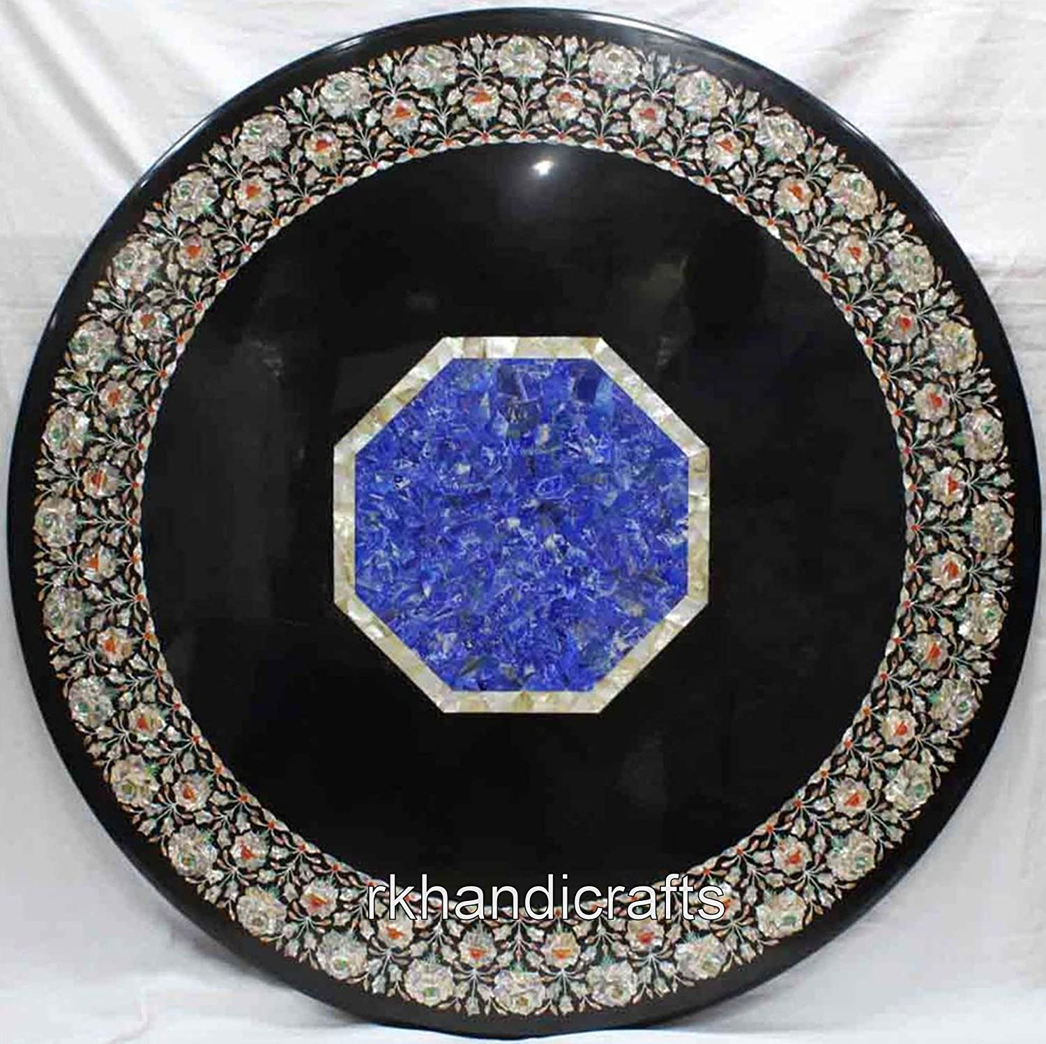 48 Inches Semi Precious Stone Art Table Directly managed store Hand Sales results No. 1 M Inlaid Top Dining