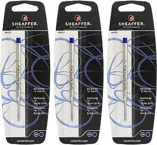 Sheaffer K Ballpoint Pen Refill, Medium Point, Blue Ink, 3/Pack (99325) by Sheaffer