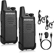 BAOFENG GT-22 FRS License Free Two-Way Radio, 1500mAh Battery, Handsfree Rechargeable Portable Walkie Talkie, 16 CH VOX, Micro USB Charging, Earpiece, 2 Pack