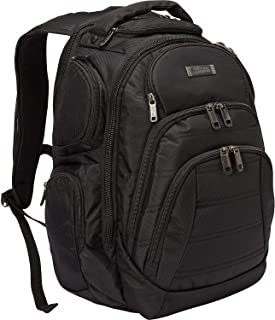 "Kenneth Cole Reaction Triple Compartment Multi-Pocket 17.0"" Laptop & Tablet Business Travel Backpack, Black"