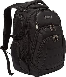 "Kenneth Cole Reaction Triple Compartment Multi-Pocket 17.0"" Laptop & Tablet Business Travel Backpack, Black"