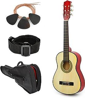 全新! 76.2cm 左手天然木吉他,带儿童/男孩/初学者盒和配件