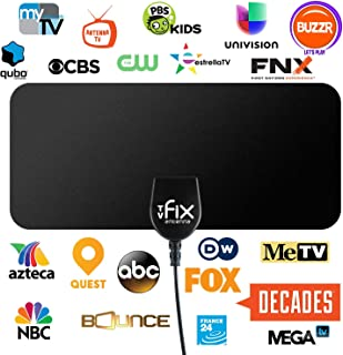 TVFIX ANTENNA HD Digital TV Antenna with Detachable Signal Amplifier 30 Miles Range support 1080P for Indoor
