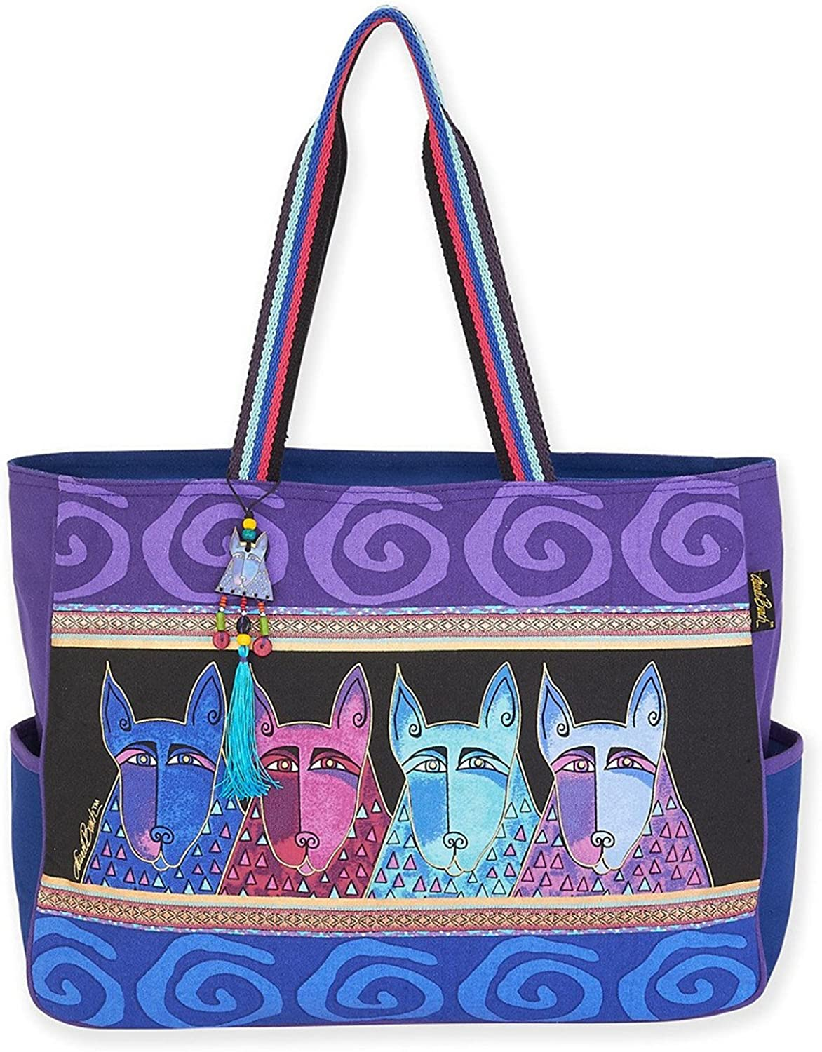 Laurel Burch Canine Tribe Oversized Dog Tote Handbag Purse