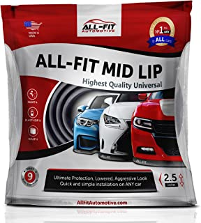 All-Fit Automotive Complete Mid Lip Kit, MLKITB30, All-Fit Automotive Complete Universal Lip Kit, Complete Bumper Chin Spoiler, Black