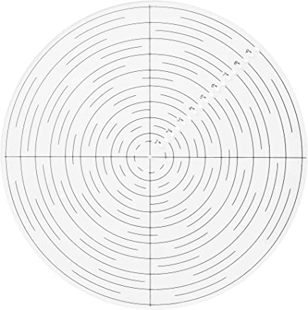 "10"" Round Center Finder/Finding Compass Clear Acrylic for Layout, Lathe Work and Woodturners. Ideal For Locating Center on Logs and General Stock Pieces Works Well on Round and Square Stock"