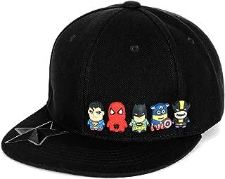 (イリリリー) ililily かわいい Superheroes ゴム ラバー Charms ニュー 時代 スタイル スナップバック 帽子 野球 キャップ