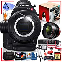 Canon C100 Cinema EOS Camera with CN-E 14mm T3.1 L F Cinema Lens Ultimate Vlogging Bundle