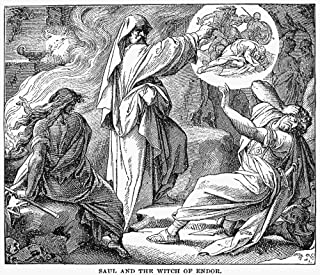 Saul & Witch Of Endor N(I Samuel 2811) Wood Engraving American 1884 Poster Print by (24 x 36)