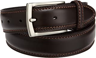Men's 1 3/8 in. Feather-Edge Belt With Two-Row Stitching