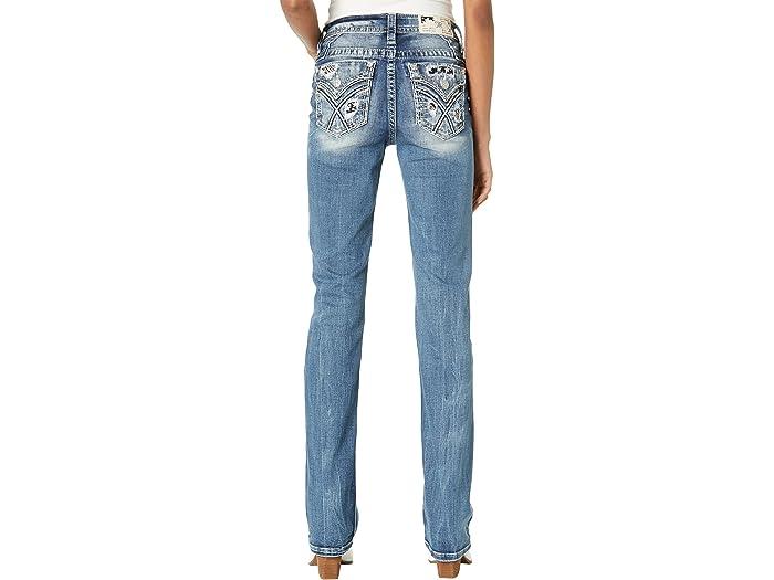 Miss Me Americana Blowout X-Shaped Flap Pocket Chloe Boot in Medium Blue