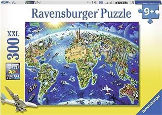 Ravensburger- Puzzle Carte du Monde 300 pièces XXL, 13227