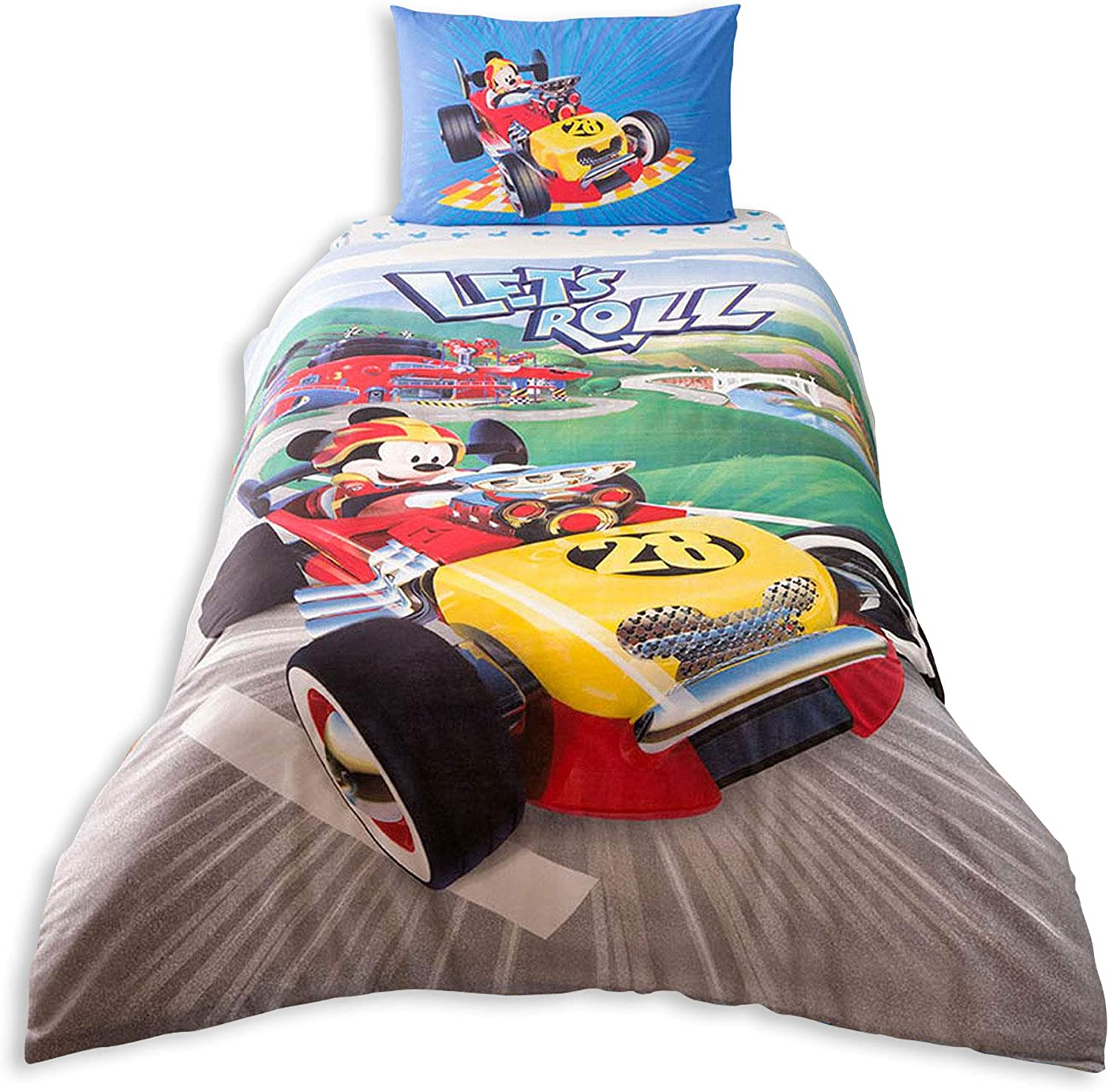 a16bc608e5ae62 Single Twin Twin Twin Kids Original Disney Mickey Racer 100% Cotton Duvet  Cover Bed Set Bedding Set Pillowcase BedSheet Quilt Cover 9fc276
