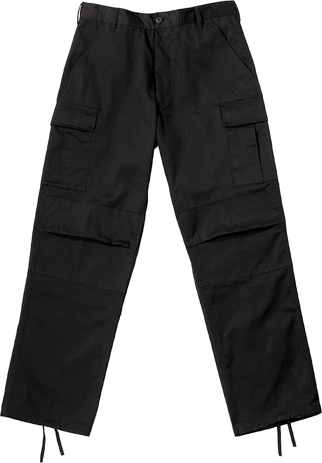 redhco Black Relaxed Fit Zipper Fly BDU Pants