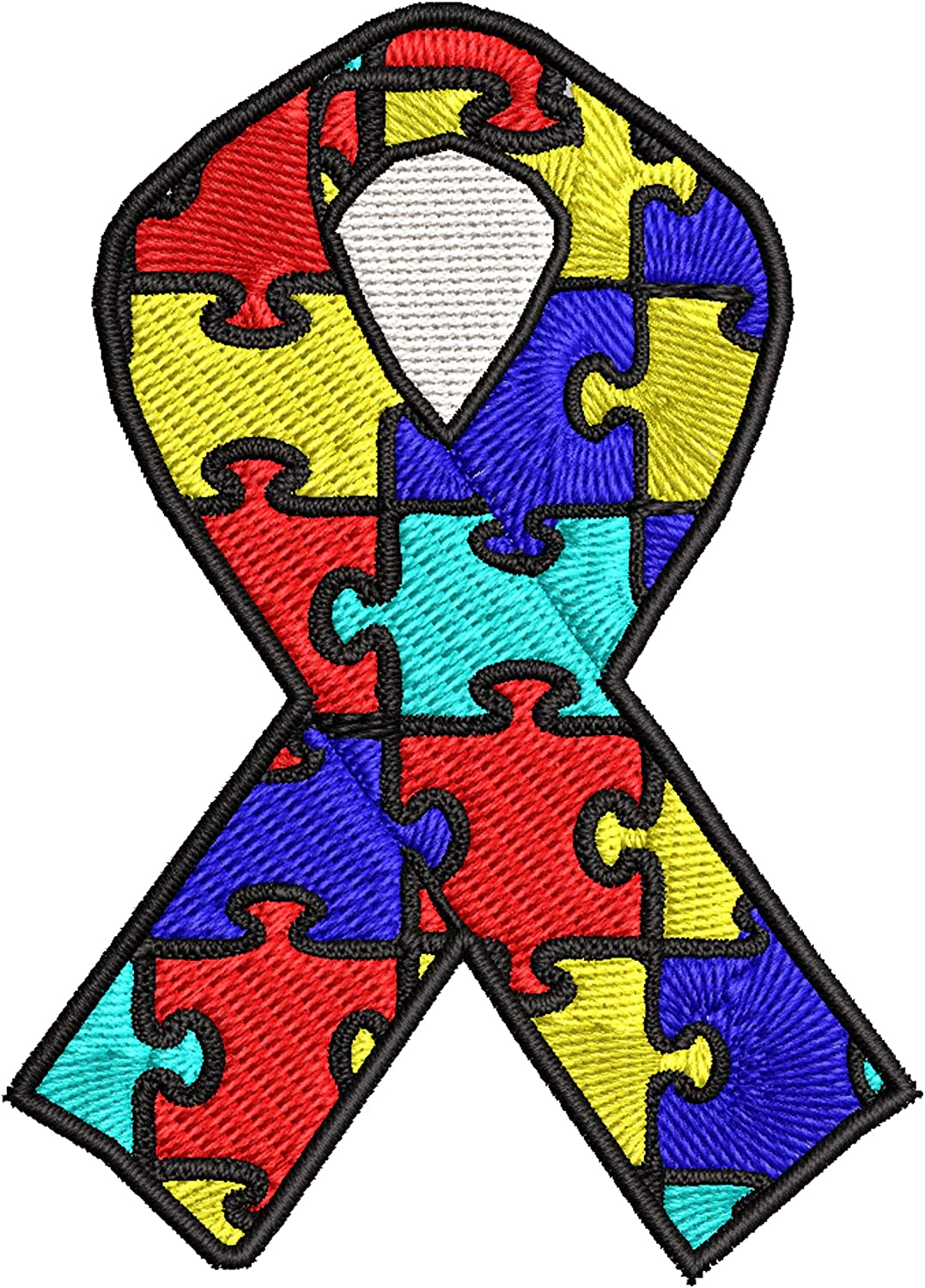 Autism Awareness 35% OFF Support Puzzle Baltimore Mall Ribbon DI Embroidered 3.5