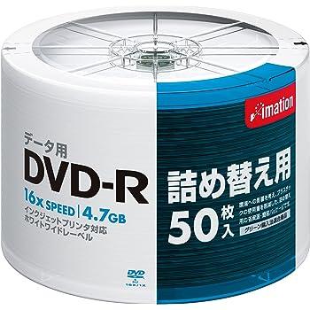 イメーション DVD-Rデータ用1-16X プリンタブルホワイト リフィール50枚入詰替え用 DVD-R4.7PWBX50SRF