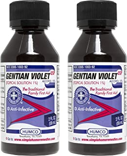 Humco Gentian Violet Topical Solution 1% USP 2 oz (Pack of 2)