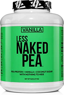 LESS NAKED PEA - VANILLA PEA PROTEIN - Pea Protein Isolate from North American Farms - 5lb Bulk, Plant Based, Vegetarian &...