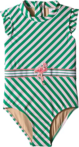 Fashion Flamingo Belt One-Piece (Toddler)