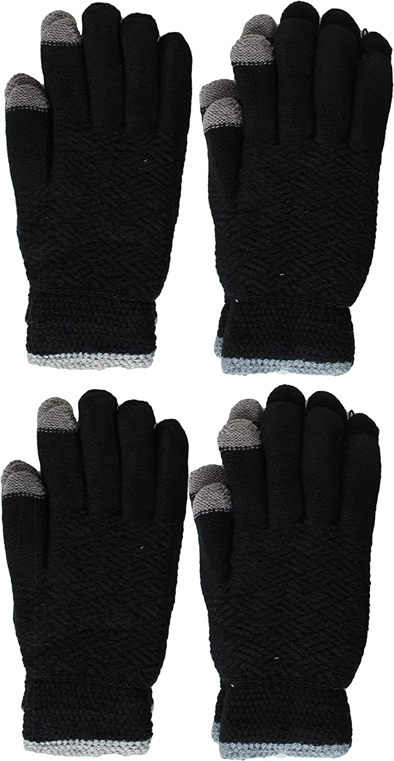 Men's Soft And Warm Fuzzy Free shipping on posting reviews Gloves Store Touchscreen With Lined Interior