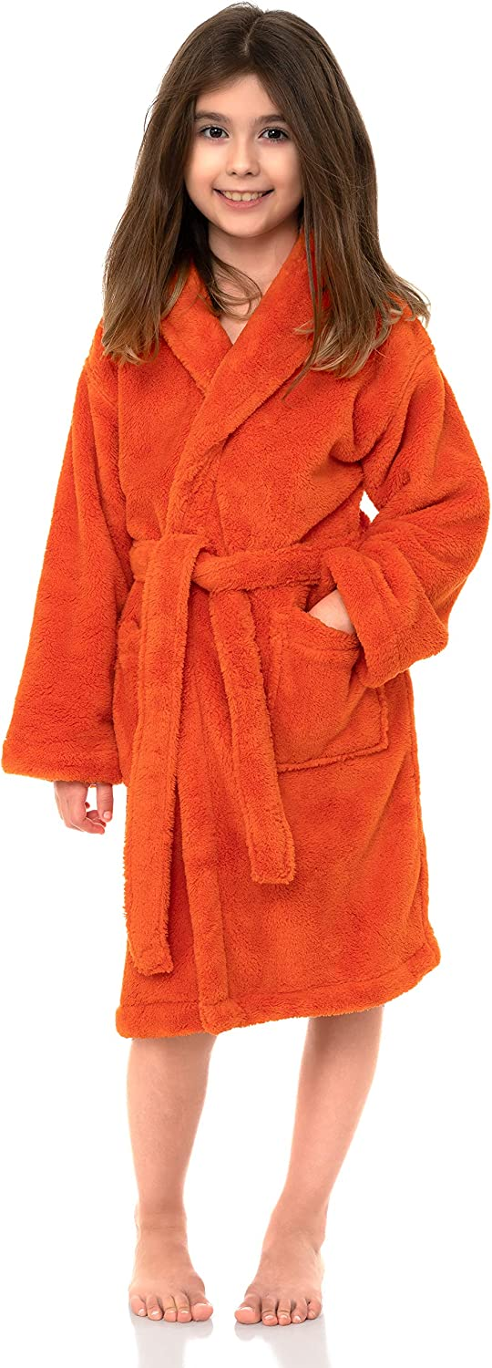 TowelSelections Girls Robe Kids Plush Fleece Shawl Recommended Bathrobe Special price for a limited time