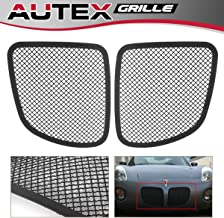 AUTEX P75545H Stainless Steel Black Mesh Billet Grille Insert Compatible With Pontiac Solstice 2006 2007 2008 Grill