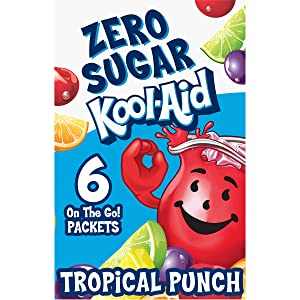Kool-Aid On the Go, Sugar Free Tropical Punch Low Calorie Drink Mix Packets, 0.37 oz