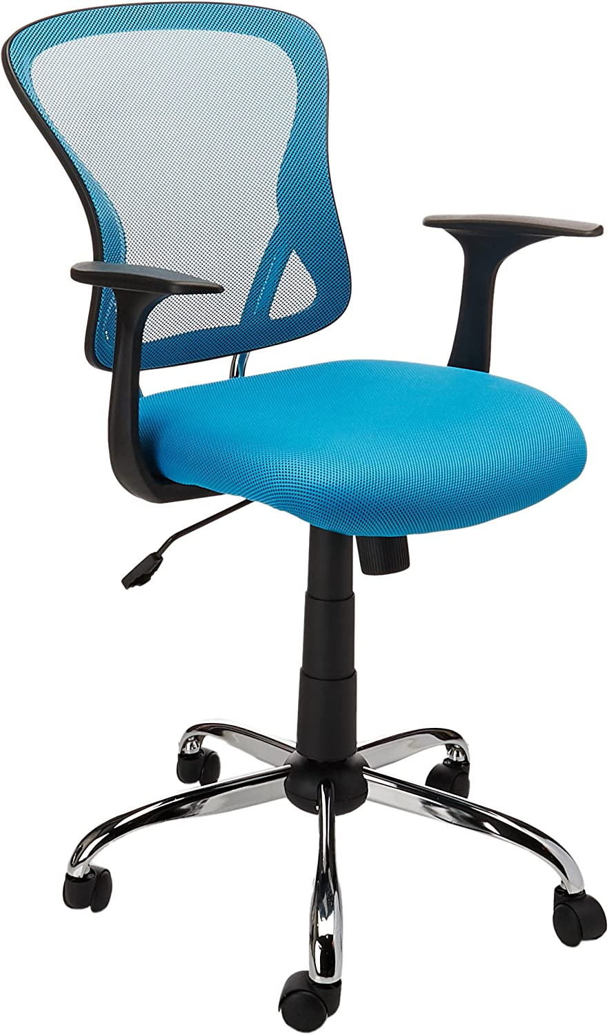Flash Furniture H-8369F-BL-GG Mid-Back bluee Mesh Office Chair with Chrome Finished Base