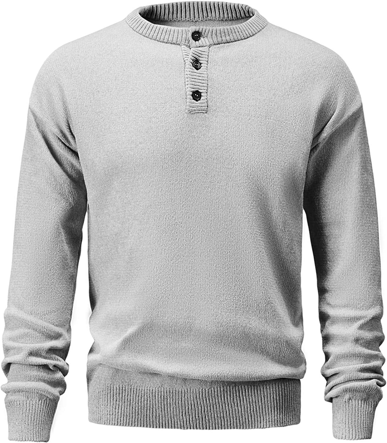 Long Beach Mall GABOB Men's Pullover Sweater Crewneck Challenge the lowest price of Japan Henley Shirt with Knitted