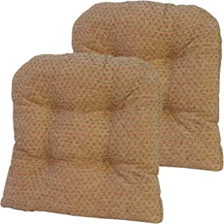 Klear Vu Raindrop Universal No Slip Dining Chair pad, Set of 2 Cushions, 15