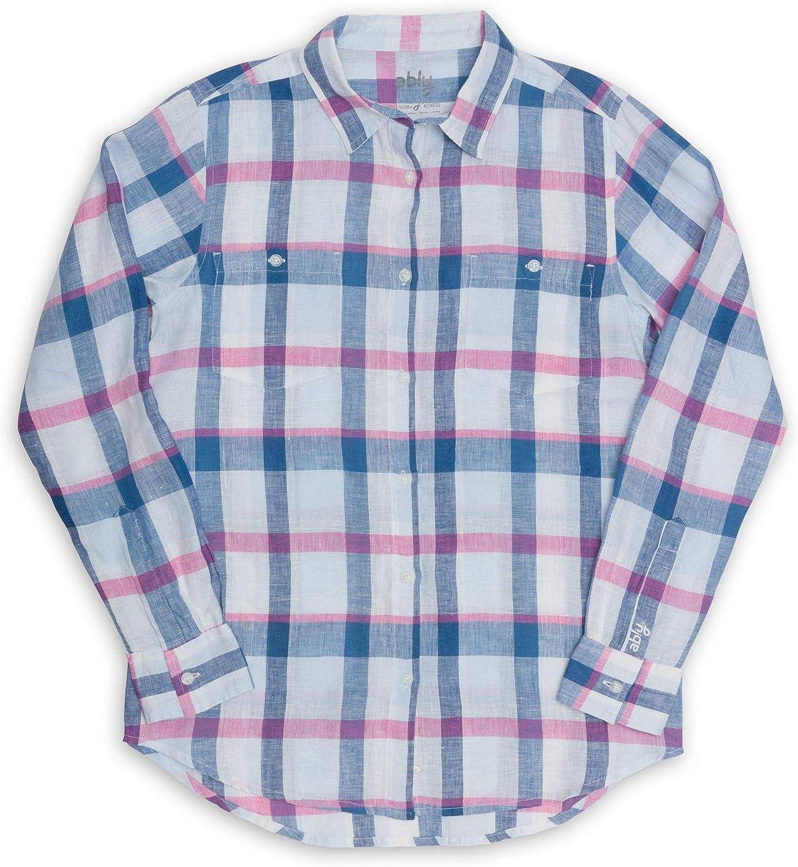 Ably Apparel Delora Women's Long Sleeve Liq 新色追加 Linen Repels Shirt 売買