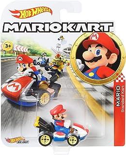 Hot Wheels Mario Kart mini-véhicule Mario à l'échelle 1:64, inspiré par les personnages et voitures du jeu, jouet pour enf...